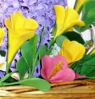 Цветы из керамики